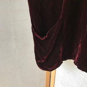 cut loose Tops - Cut-Loose burgundy velvet oversized bat wing top